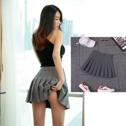 Women Nightclub Pleated High-waist Skirt