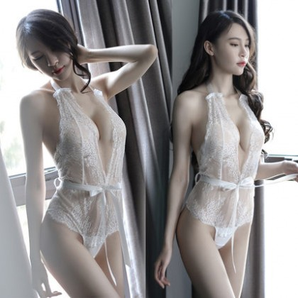 Sexy Lingerie Lace Erotic Transparent Passion Nightdress Suit