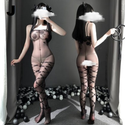 Sexy Lingerie Outfit Transparent Seductive Nightdress Suit