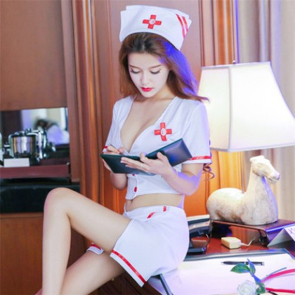 Sexy Uniform Nurse Cosplay Teasing Outfit Erotic Suit