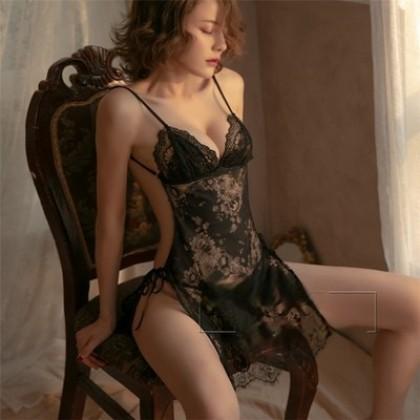 Sexy Lingerie Hot Black Temptation Nightdress Teasing Suit